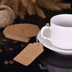 7 * 4 cm Carte Étiquette Brun de Papier Kraft Étiquette pour Cadeau, Bagage, Mariage avec 30 Mètres Ficelle, 100 Pièces de la marque Mudder image 4 produit