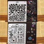 7pcs Pochoirs et 6pcs Ensemble de pinceaux, kit de modèle de peinture pour le scrapbooking Craft artistes de la marque XIUJUAN image 3 produit