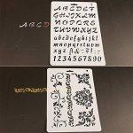 7pcs Pochoirs et 6pcs Ensemble de pinceaux, kit de modèle de peinture pour le scrapbooking Craft artistes de la marque XIUJUAN image 4 produit