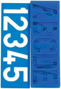8pièces de pochoirs pour peinture 36x10cm Lettres, chiffres et symboles de ponctuation de la marque ToolUSA image 0 produit