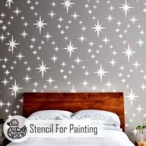 8-POINT ÉTOILE GRAPPE Mur Pochoir Pour Peinture - Mur Grand de la marque Dizzy Duck Designs image 0 produit