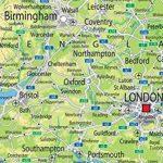 A0Papier laminé UK Carte Physique [GA]–Géant Taille. de la marque Tiger image 1 produit