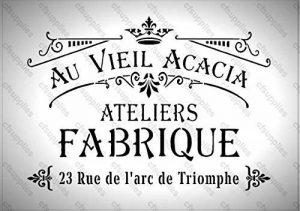 A3 Grand pochoir Shabby Chic, Français, mobilier, tissu, verre, plus de *Nouveau 190 microns Mylar réutilisable 142 * de la marque cfsupplies image 0 produit