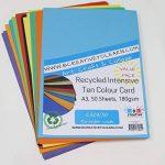 A3recyclé Intensive Dix Couleur carte 180g/m² 50feuilles par Bcreative® de la marque Be Creative image 1 produit