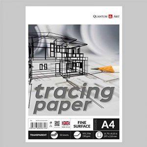 A4calque Transparent Dessin ou croquis de l'artiste papier gommé Book–150g/m² de la marque Quantum Art image 0 produit