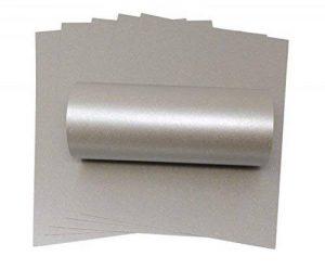 A4Carte Mercury Argent irisé Sparkle carte de qualité 300g/m² pour travaux manuels Fabrication de cartes de la marque Syntego image 0 produit