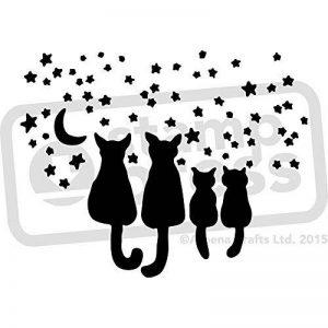 A4 'Chats Étoiles' pochoir mural (WS00010072) de la marque Stamp Press image 0 produit