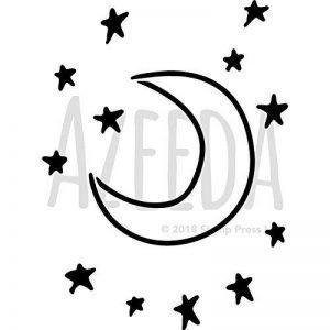 A4 'Lune et Étoiles' pochoir mural (WS00006129) de la marque Azeeda image 0 produit
