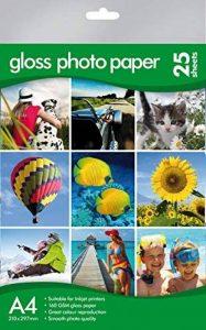 A4papier photo glacé–de qualité professionnelle –, Canon, HP, Epson, Kodak Compatible–Lot de 25 de la marque Morgans image 0 produit