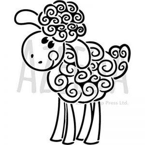 A5 'Heureux Mouton' pochoir mural (WS00025680) de la marque Azeeda image 0 produit