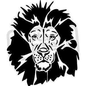 A5 'Lion' pochoir mural (WS00004598) de la marque Stamp Press image 0 produit
