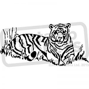 A5 'Tigre de Repos' pochoir mural (WS00005886) de la marque Stamp Press image 0 produit