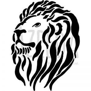 A5 'Tête de Lion' pochoir mural (WS00006564) de la marque Azeeda image 0 produit