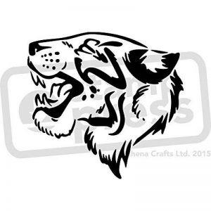 A5 'Tête de Tigre' pochoir mural (WS00006062) de la marque Stamp Press image 0 produit