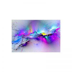 abstrait coloré Cloud sans cadre Peinture murale Décoration d'intérieur Home Ornement, comme sur l'image, 50 x 70 cm de la marque Pengyu image 0 produit