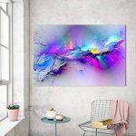 abstrait coloré Cloud sans cadre Peinture murale Décoration d'intérieur Home Ornement, comme sur l'image, 50 x 70 cm de la marque Pengyu image 1 produit