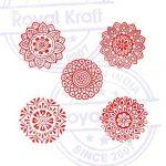 Abstrait Forme Rond et Mandala Bois Timbre Blocs (Set de 5) de la marque Royal Kraft image 2 produit