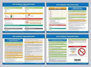 Affichage obligatoire - Code du travail - plastifié et effaçable - édition 2018 de la marque La petite fabrique image 0 produit
