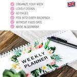 Agenda de Bureau Flamant/ Agenda de semaine/ Agenda de Bureau journalier 2017 2018/ Agenda Semainier/ Weekly Planner/ Agenda scolaire 2017 2018/ Agenda de Bureau pour une Amie/ Agenda pour Institutric de la marque Local & Urban image 3 produit