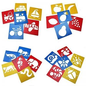 Ailiebhaus Pochoir de Dessin en Plastique Gabarits de Peinture pochoir bullet journal lettres (13 x13 cm) de la marque Ailiebhaus image 0 produit