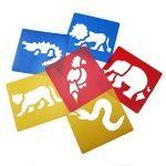 Ailiebhaus Pochoir de Dessin en Plastique Gabarits de Peinture pochoir bullet journal lettres (13 x13 cm) de la marque Ailiebhaus image 3 produit
