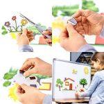 Aimants adhésifs - 70 carrés (2 x 2 cm x 2 mm) - pour accrocher des photos, des feuilles laminées, des cartons lourds en les attachant au dos - Double intensité du champ magnétique de la marque Magninte image 2 produit