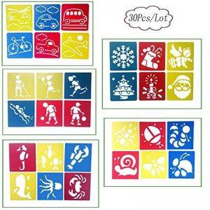 Aipark Lot de 30Pcs Pochoirs de Dessin Enfants, Outils Modèles de Peinture de la marque Aipark image 0 produit