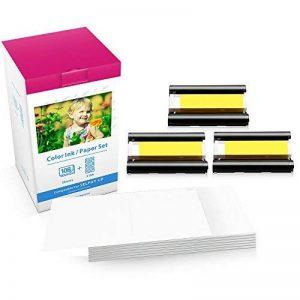 Airmall KP-108IN Papier Photo 100 x 148 mm 108 Feuilles Papier et 3 Cartouches D'encre Couleur Compatible avec L'imprimante Photo Canon SELPHY CP CP1300 CP1200 CP910 CP900 de la marque Airmall image 0 produit
