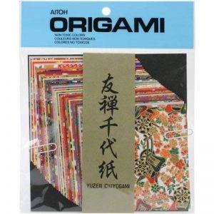 Aitoh papier origami 10,2cm X 10,2cm 40Sheets-yuzen Washi Chiyogami de la marque Aitoh image 0 produit