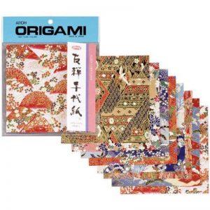 aitoh Papier Origami 5.875-inch x 5.875-inch 8sheets-yuzen Washi rouge de la marque Aitoh image 0 produit