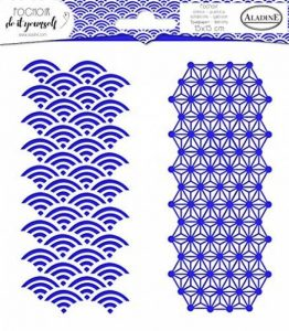 Aladine 81059 - Pochoir Carré Diy Duo Géométrique Japonais de la marque Aladine image 0 produit