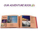 Album Photo DIY, Pootack Scrapbook (19x30cm, 80 pages, 40 feuilles) avec un ensemble de stylo couleur, un ciseaux, une bande de dentelle décorative, des autocollants - Cadeau pour un souvenir d'amour, amis, famille, enfants de la marque POOTACK image 1 produit