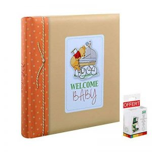 Album Photo Enfant Tradionnel Disney Baby Winnie 60 pages blanches - En cadeau 1 boite de 500 pastilles double face pour l'achat de cet album de la marque Innova image 0 produit
