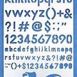Aleks Melnyk 34 Bullet Journal Pochoir Métal/Alphabet Lettre Numéro/acier inoxydable Planner Pochoirs Journal/Notebook/Journal/Scrapbooking/Artisanat/Modèle de dessin bricolage Pochoir de la marque Aleks Melnyk image 3 produit