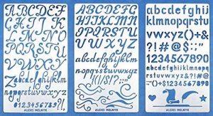 Aleks Melnyk 34 Bullet Journal Pochoir Métal/Alphabet Lettre Numéro/acier inoxydable Planner Pochoirs Journal/Notebook/Journal/Scrapbooking/Artisanat/Modèle de dessin bricolage Pochoir de la marque Aleks Melnyk image 0 produit
