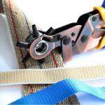 ALLIGATOR Pince Perforatrice à poinçon Ovales et Ronds. Pince à ceinture, cuir, toile. Avec 3 poinçon ronds: 3,5-4-4,0 mm / 3 poinçons ovales: 6,1 x 4,0 mm, 6,6 x 3,1 mm, 7,5 x 3,6 mm de la marque S&R image 3 produit