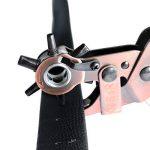 ALLIGATOR Pince Perforatrice à poinçon Ovales et Ronds. Pince à ceinture, cuir, toile. Avec 3 poinçon ronds: 3,5-4-4,0 mm / 3 poinçons ovales: 6,1 x 4,0 mm, 6,6 x 3,1 mm, 7,5 x 3,6 mm de la marque S&R image 2 produit