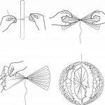 Amazy Pompons en papier de soie (Lot de 12) – Superbes fleurs en papier de soie à suspendre (Crème) de la marque Amazy image 2 produit