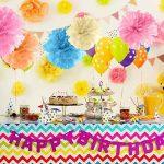 Amazy Pompons en papier de soie (Lot de 12) – Superbes fleurs en papier de soie à suspendre (Rose) de la marque Amazy image 3 produit