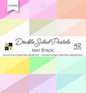 American Crafts Dcwv 15,2x 15,2cm double face papier cartonné pile: pastels de la marque American Crafts image 0 produit