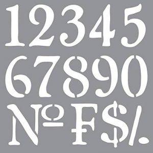 Americana Décor Pochoir-Olde World Numéros de la marque Deco Art image 0 produit