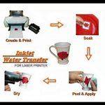 AMZ TPW Lot de 20feuilles de papier pour décalcomanie à l'eau Blanc Format A4 de la marque AMZ image 1 produit