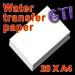 AMZ TPW Lot de 20feuilles de papier pour décalcomanie à l'eau Blanc Format A4 de la marque AMZ image 3 produit