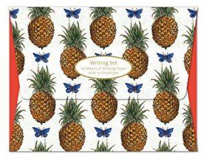 Ananas et papillons–V & A écrire Lot de 10feuilles de papier à lettres avec enveloppes imprimées dans un Portefeuille Imprimé de la marque Museums & Galleries image 0 produit