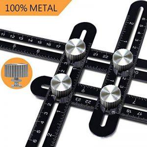 Angle de mesure Règle, Rotek en alliage d'aluminium en métal Angleizer Modèle Outil, outils de mesure des angles avec étui de transport pour DIY Établis Builders de charpentier, Tilers, Artisans de la marque Rotek image 0 produit