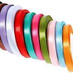 Anpro 12PCS Ruban Satin Mixte Coloris 10mm x 22m environ Décoration Pour Diy, Mariage ,Fête et Emballage Cadeau, Faire nœud Papillon de la marque Anpro image 1 produit