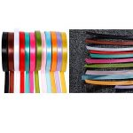 Anpro 12PCS Ruban Satin Mixte Coloris 10mm x 22m environ Décoration Pour Diy, Mariage ,Fête et Emballage Cadeau, Faire nœud Papillon de la marque Anpro image 4 produit