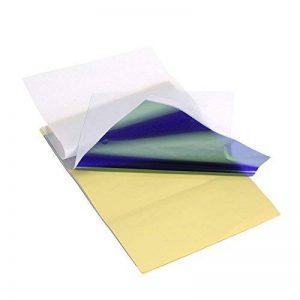 Anself 15 Feuilles Papier de Transfert de Tatouage Papier Thermique de Copie de Pochoir de Carbone Papier-Calque avec 4 Couches de la marque Anself image 0 produit
