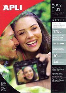 Apli 010688 10 Papier Photo Double Face, 210 x 297mm, 175 g de la marque Apli image 0 produit