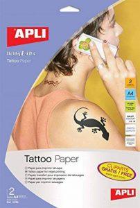 Apli 011295 2 Papier pour Tatouage, 210 x 297mm de la marque Apli image 0 produit